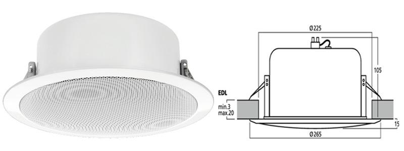 Enceintes encastrables ligne 100v mat riel sonorisation clairage pas cher - Haut parleur encastrable plafond bose ...